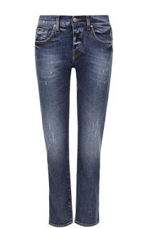 Укороченные джинсы прямого кроя с потертостями Two Women In The World