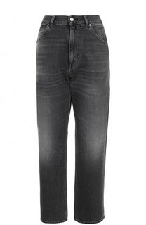 Укороченные джинсы прямого кроя с потертостями Golden Goose