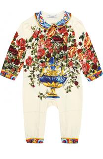 Хлопковая пижама с принтом Dolce & Gabbana