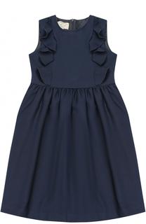 Приталенное платье с декоративными оборками Caf