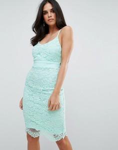 Кружевное платье миди Forever Unique - Зеленый