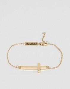 Браслет-цепочка с крестиком Icon Brand - Золотой