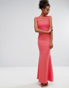 Платье макси с вырезами и шлейфом Lipsy - Красный