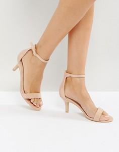 Телесные босоножки на каблуке Glamorous - Бежевый
