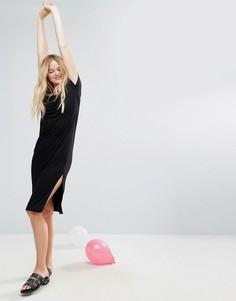 Длинное платье-футболка Monki - Черный