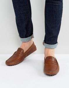 Коричневые кожаные мокасины ASOS - Коричневый