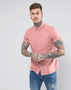 Розовая джинсовая рубашка классического кроя ASOS - Розовый