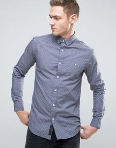 Рубашка в горошек Produkt - Темно-синий