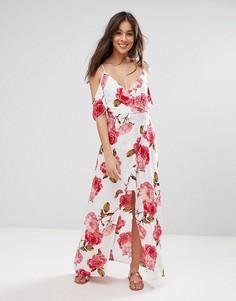 Платье макси с цветочным принтом Parisian - Белый