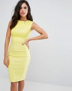 Платье-футляр миди City Goddess - Желтый