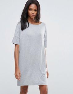 Цельнокройное платье Pieces Fiorella - Серый