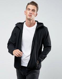 Черная легкая нейлоновая куртка с капюшоном Abercrombie & Fitch - Черный