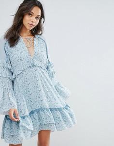 Свободное платье мини с принтом Stevie May The Mystic - Мульти