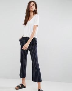 Укороченные брюки в полоску Gestuz Cori - Темно-синий