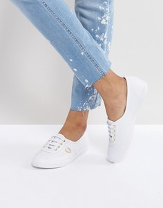 Кожаные кроссовки Fred Perry Aubrey - Белый