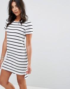 Платье-футболка в полоску Glamorous - Белый