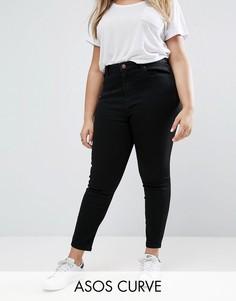 Черные джинсы скинни ASOS CURVE RIDLEY - Черный