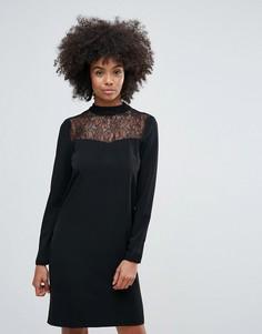 Платье с кружевной отделкой Vila - Черный