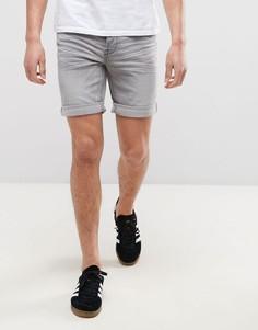 Джинсовые шорты слим Only & Sons - Серый
