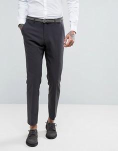 Темно-серые зауженные брюки ASOS Wedding - Черный