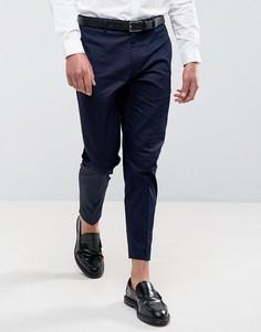 Темно-синие укороченные брюки скинни ASOS - Темно-синий