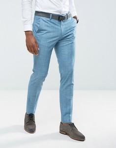 Голубые брюки скинни ASOS Wedding - Синий