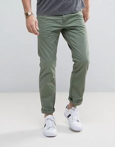 Повседневные брюки цвета хаки Esprit 5 - Зеленый