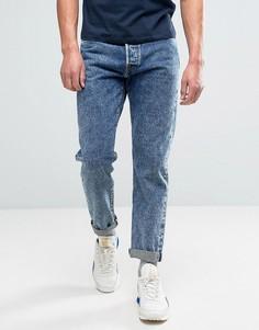 Суженные книзу джинсы свободного кроя с эффектом кислотной стирки Edwin ED-45 - Синий
