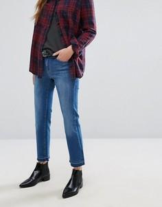 Прямые укороченные джинсы с распущенными краями Only - Синий