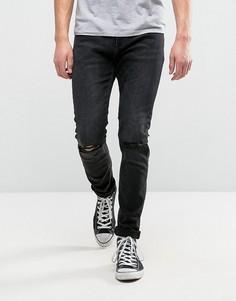 Черные джинсы слим Rollas Thin Captain - Черный Rollas