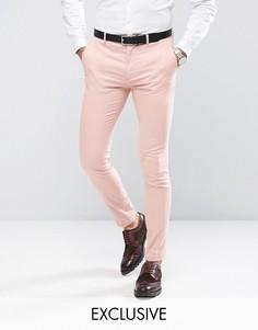 Суперузкие брюки из хлопкового сатина Only & Sons - Розовый