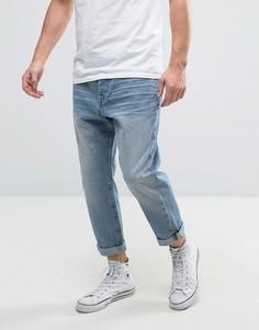 Свободные укороченные джинсы Only & Sons - Синий