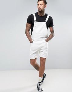 Белый джинсовый комбинезон с шортами ASOS - Белый