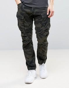 Суженные книзу камуфляжные брюки карго G-Star BeRAW Rovic Qane 3D - Зеленый