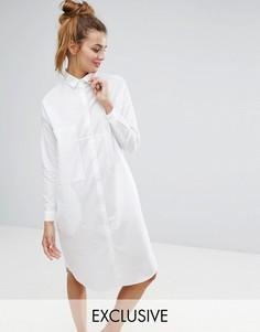 Платье-рубашка Monki - Белый