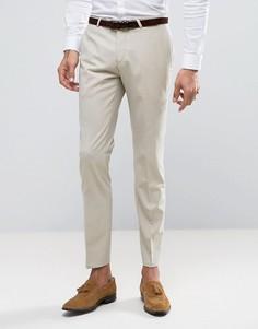 Супероблегающие брюки Noose & Monkey Wedding - Бежевый