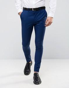 Супероблегающие брюки под смокинг Selected Homme - Темно-синий