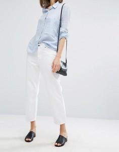 Укороченные свободные джинсы с классической талией Dr Denim Haze - Белый