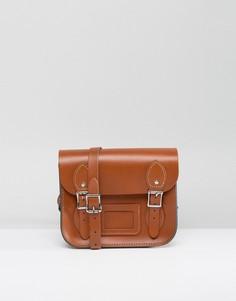 Маленькая светло-коричневая сумка сэтчел Leather Satchel Company - Рыжий