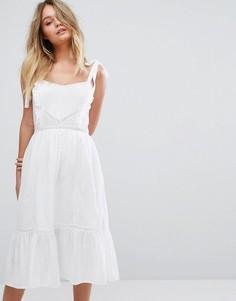 Ярусный сарафан кроше New Look - Белый
