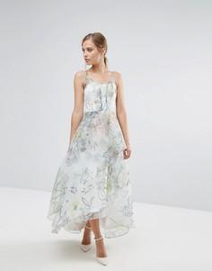 Платье макси с цветочным принтом Coast - Мульти