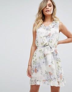 Чайное платье с цветочным принтом Miss Selfridge - Мульти