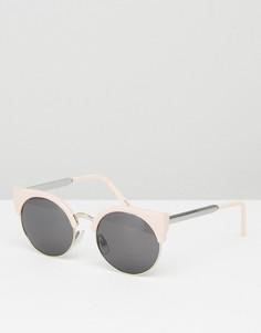 Солнцезащитные очки кошачий глаз Monki - Розовый
