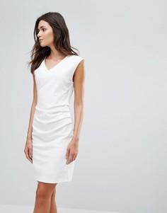 Платье с присборенным дизайном b.Young - Белый