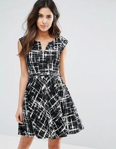 Платье с абстрактным принтом Louche Gael - Черный