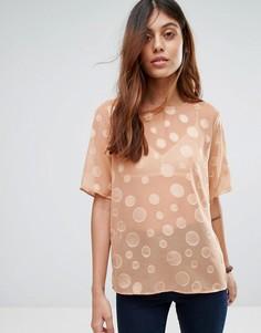 Рубашка в прозрачный горошек Selected Valera - Розовый