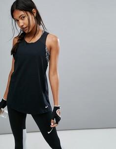 Черный свободный спортивный топ Nike Breathe - Черный