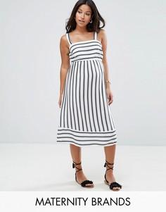 Платье миди в полоску New Look Maternity - Белый