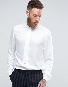 Классическая рубашка с закругленным воротником и галстуком ASOS - Белый