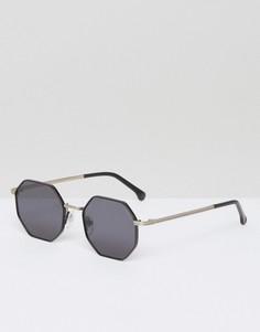 Солнцезащитные очки с шестигранной оправой Komono The Monroe - Черный